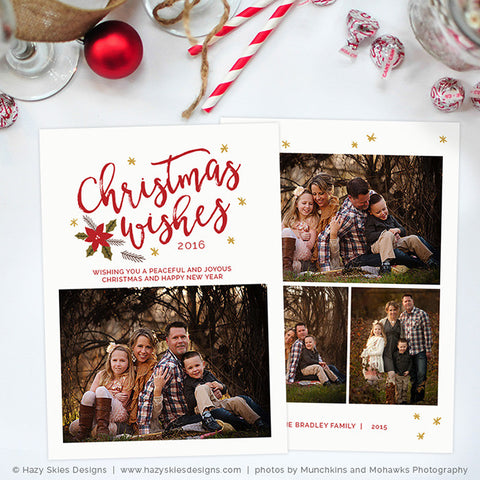 Christmas & Holiday Card Templates for Photographers – Photoshop ...