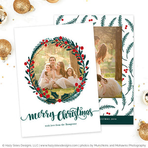 Christmas Card Template | Berry Merry Christmas