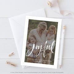 Studio Card Template | Year in Review Holiday Card