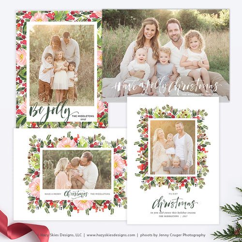 Christmas Card Templates | Berry Christmas Collection