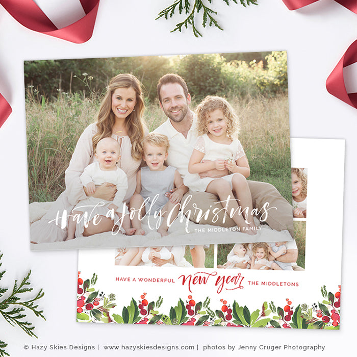 Christmas Photo Card Christmas Card Template Christmas Card ...
