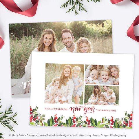 Holiday Christmas Card Template | Have a Jolly Christmas