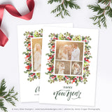 Holiday Christmas Card Template | Berry Christmas