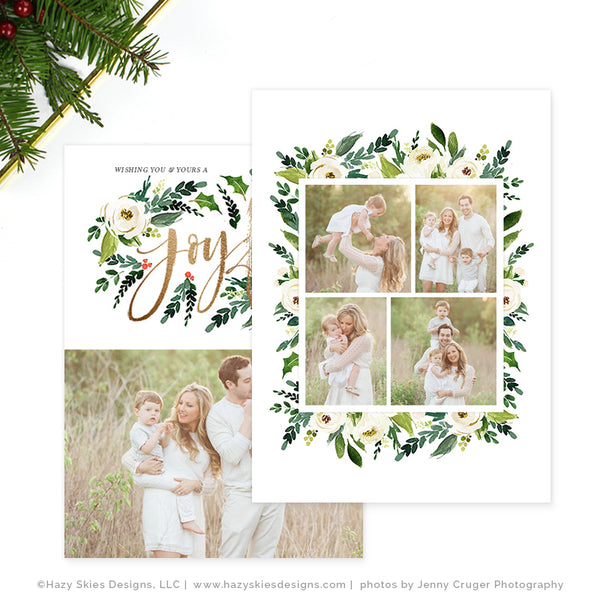 Holiday Christmas Card Template | Joyful