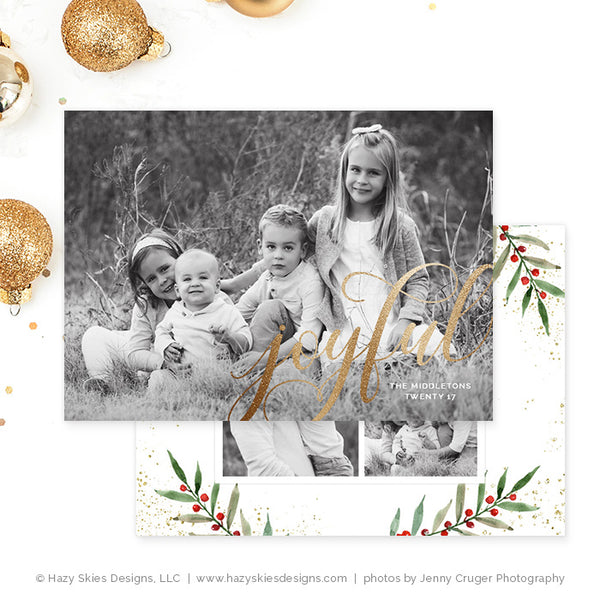 Christmas Card Template | Berry Jolly