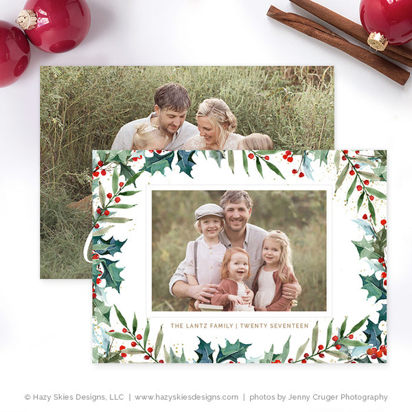 Christmas Card Template | Under the Mistletoe