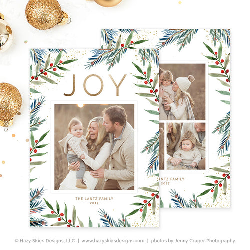 Christmas Card Template | Winter Joy