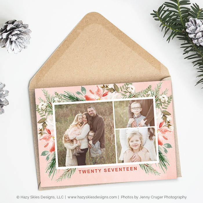 Christmas Cards With Photo, Christmas Photo Card Template Photoshop ...