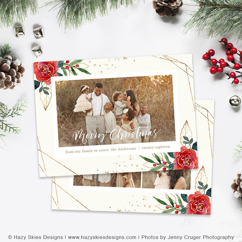 Christmas Card Templates for Photographers, Christmas Photo Cards ...