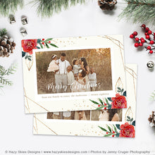 Christmas Card Photoshop Template | Ruby