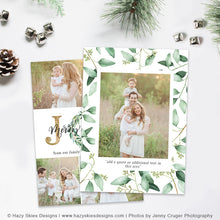 Christmas Card Photoshop Template | Emerald & Gold