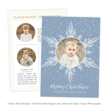 Very Merry Winter Christmas Photo Card Template