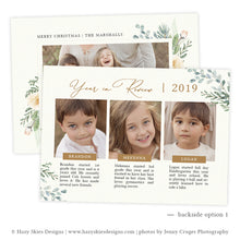 Joyful Year in Review Christmas Card Template