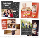 Christmas Card Templates for Photoshop | Warm Wishes Collection