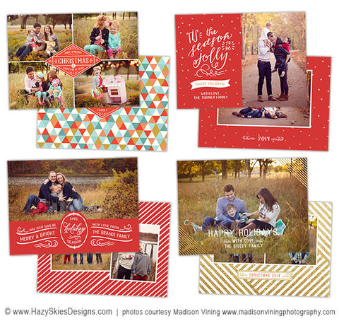 Christmas Card Templates for Photographers | 'Tis The Season