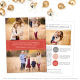 Holiday Portrait Marketing Set | Now Booking