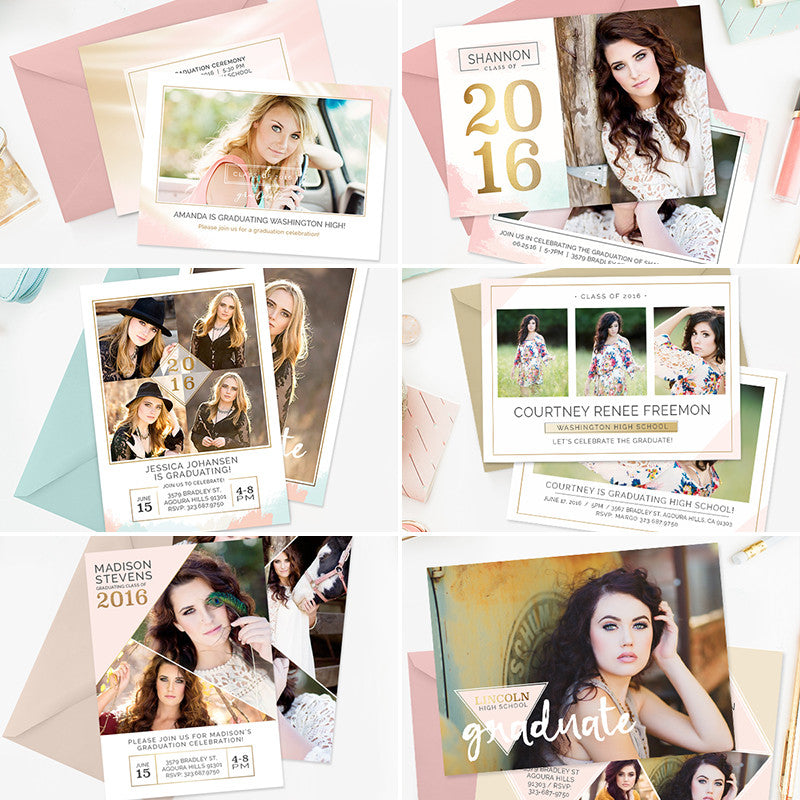 High School Graduation Announcement Templates For Photographers