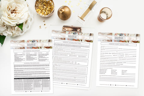 Photography Forms & Contracts | The Wedding Set