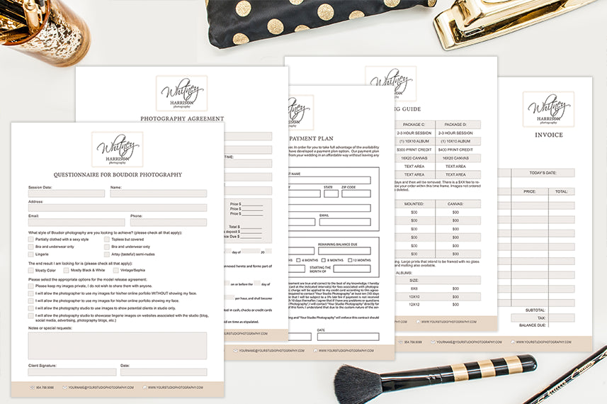 Photography Forms & Contracts | Boudoir Beauty