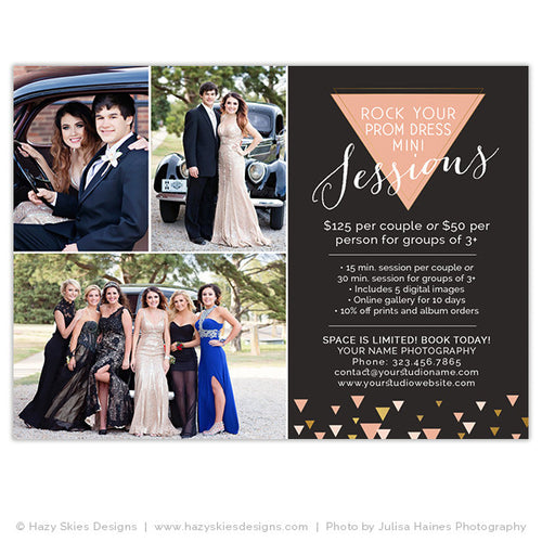 Prom Mini Session Marketing Template | Rock Your Dress