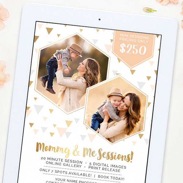 Mini Session Marketing Template | Mommy & Me Minis