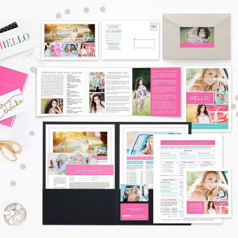 New Client Senior Welcome Packet Templates for Photographers ...