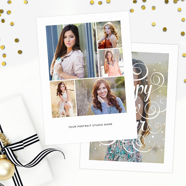 Studio Greeting Card Template | Happy New Year