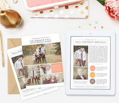 Fall Newsletter Card Template | Autumn Palette