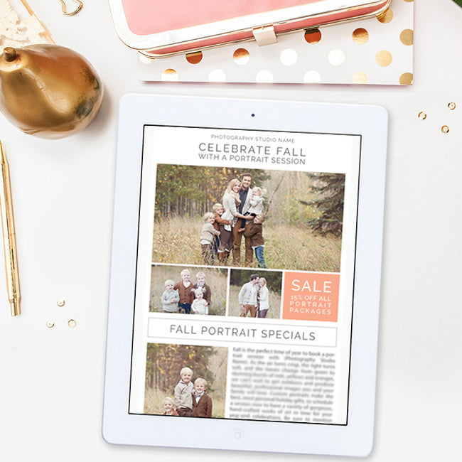 digital newsletter template for photographers photoshop photoshop