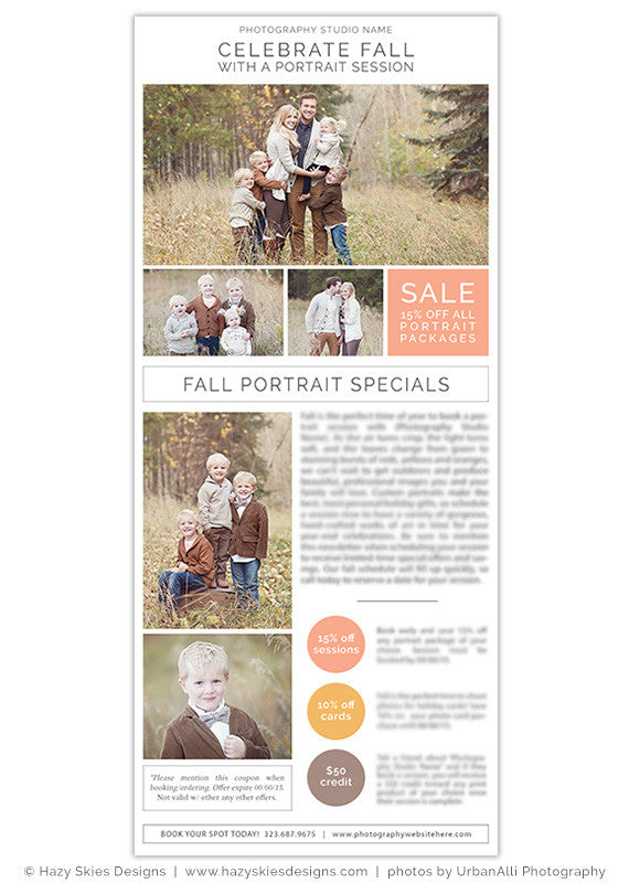 Digital Newsletter Template for Photographers Photoshop ...