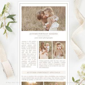 Photography Email Newsletter Template | Organic
