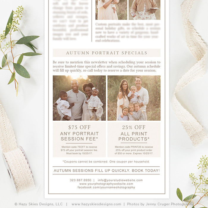 Photography Email Newsletter Templates, Photography Marketing ...