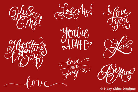 Valentine's Day Photo Overlays | Love Words