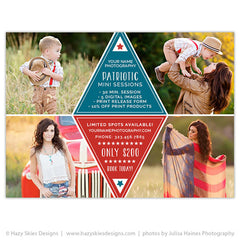 Mini Session Marketing Template | Patriotic