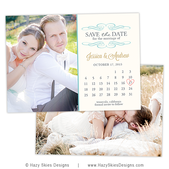 Save The Date Card Template Calendar Photoshop Templates For - Save the date calendar template