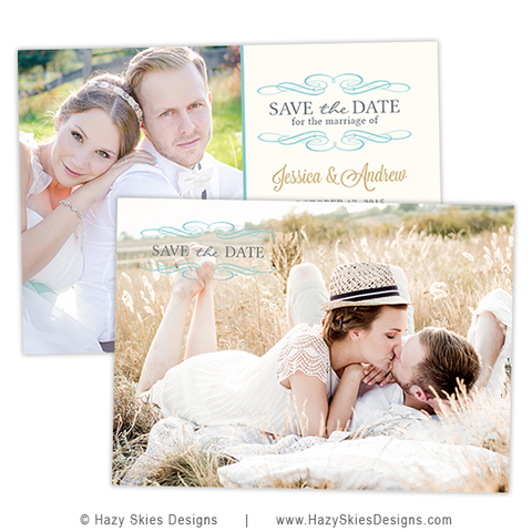 Save the Date Card Template | Calendar
