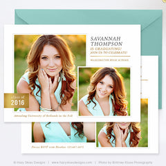 Senior Graduation Announcement Template | Off to College