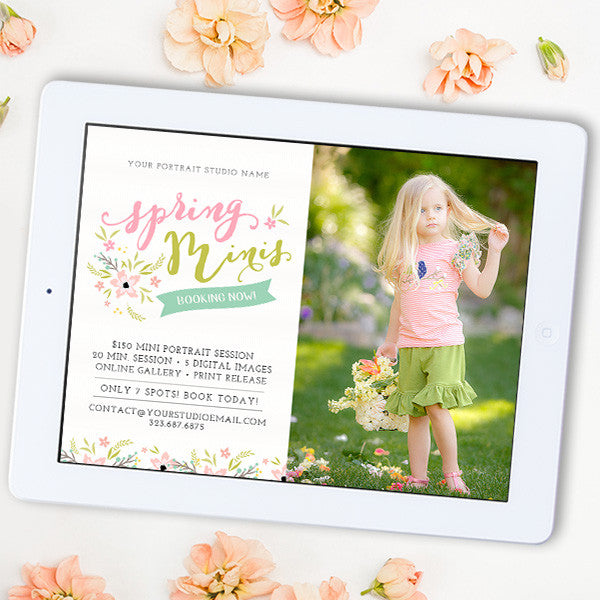 Spring Mini Session Template | Spring Minis