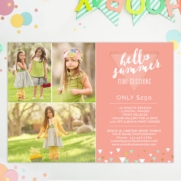 Mini Session Marketing Template | Hello Summer