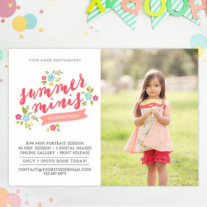 Mini Session Marketing Template | Summer Minis