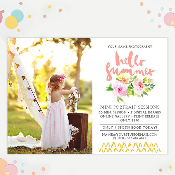 Mini Session Marketing Template | Summer Roses