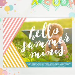 Mini Session Marketing Template | Hello Summer Minis