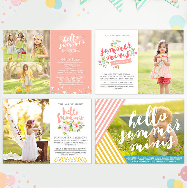 Mini Session Marketing Templates | Summer Bundle