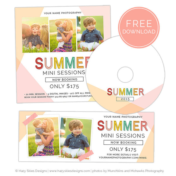FREE Mini Session Templates for Photoshop