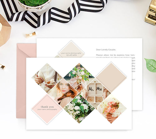 Thank You Card Template | The Wedding Photographer