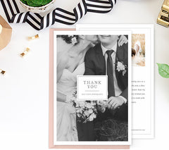 Thank You Card Template | Wedding & Engagement