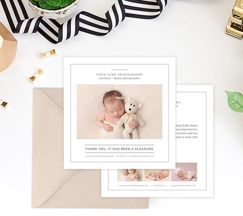 Thank You Card Template | Family Portraits