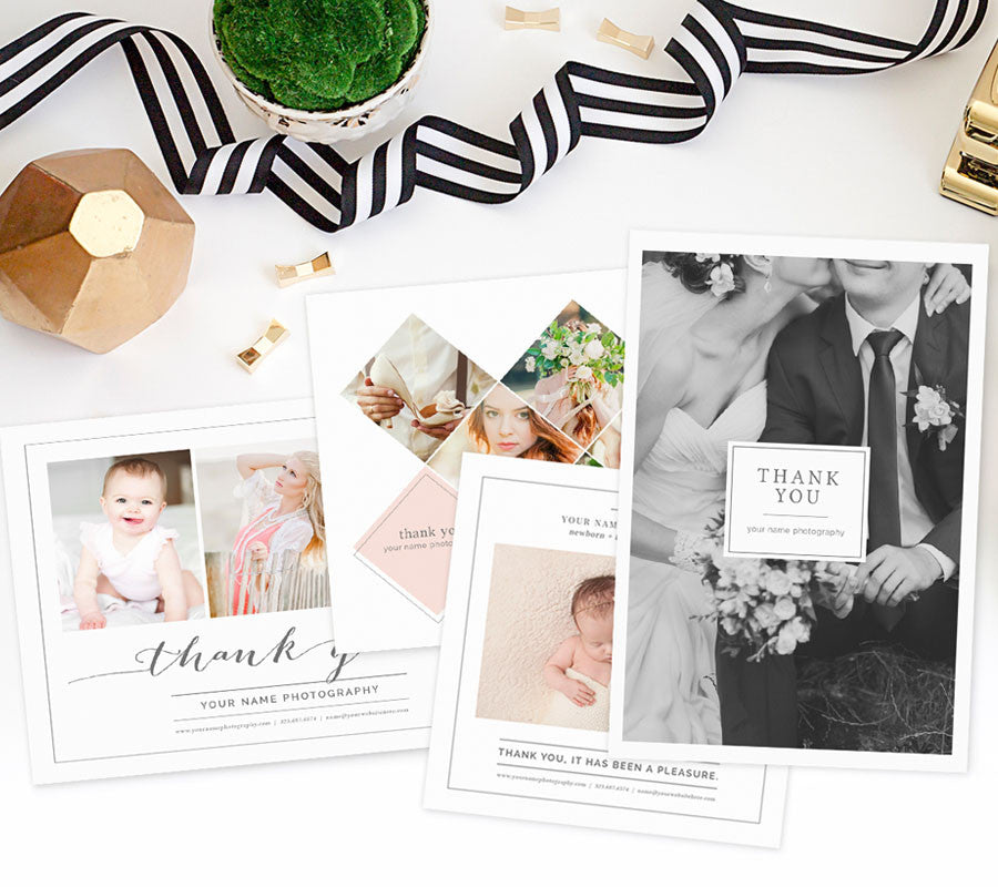 Thank You Card Templates For Photoshop Photographers Photoshop