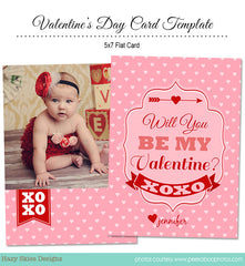 Valentine's Card Template | Love Struck