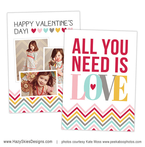 Valentine's Card Template | All You Need is Love